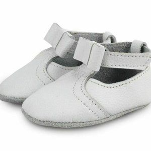 Donsje Amsterdam Julie White Leather Baby Shoes